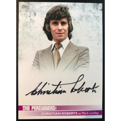 Christian Roberts Autograph Card from The Persuaders Series One
