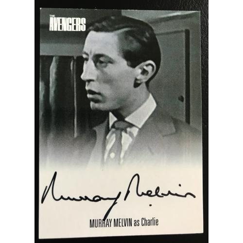 Murray Melvin  AVMM1 The Avengers Series Two Autograph Card