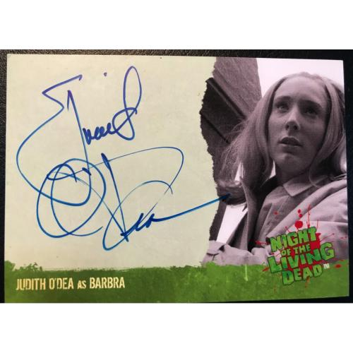 Judith O'Dea Autograph Card from Night of the Living Dead