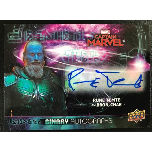 Captain Marvel Rune Tempte / Bronchiole-Char Autograph Card Upper Deck